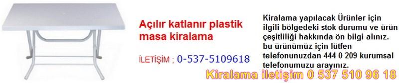 açılır katlanır plastik masa kiralama Resim No ; 5