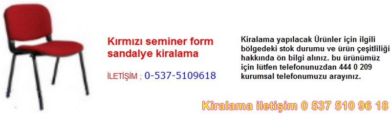kırmızı seminer form sandalye kiralama Resim No ; 60