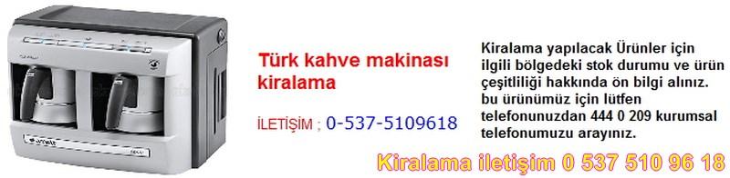 türk kahve makinası kiralama Resim No ; 121